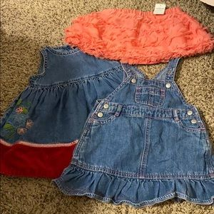 Lot of 3 Baby Gap Baby Girl Dresses